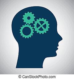 think design over  background vector illustration