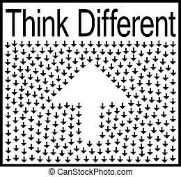 Think different business concept