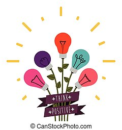 Think different design over white background, vector...
