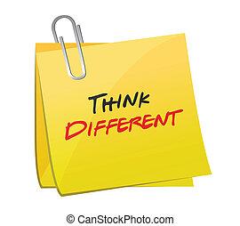 think different post illustration design