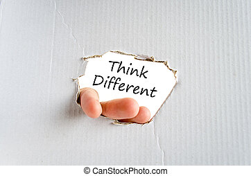 Think different text concept