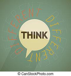 Think different vector illustration