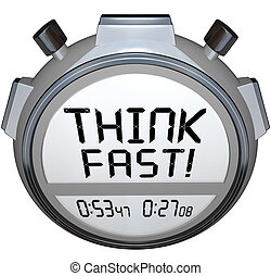 Think Fast Timer Stopwatch Quiz Answer Contest - A stopwatch...