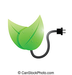 think green connection illustration design