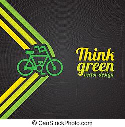 think green design over black background vector illustration...
