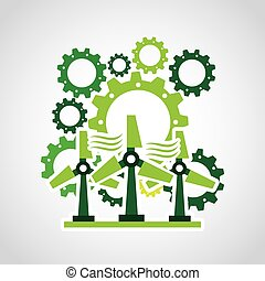think green design - think green design, vector illustration...