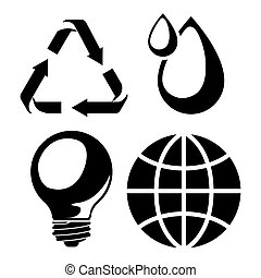 think green design - think green design, vector illustration...