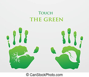 Think Green. Ecology Concept.