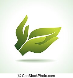 Think Green. Ecology Concept icon
