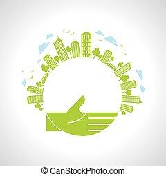Think Green - Illustration