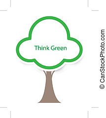 think green tree vector