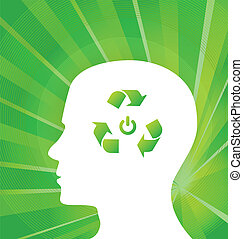 Think Green Vector concept background