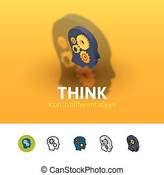 Think icon in different style