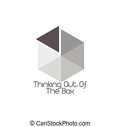 think out of the box symbol vector