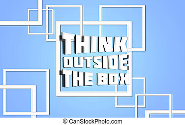 think outside the box blue