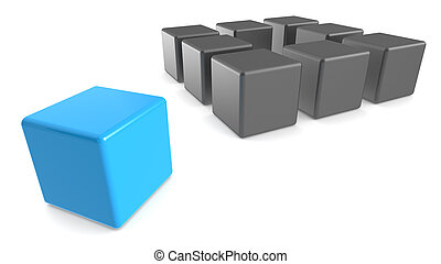 Think outside the Box. - Classic Methaphore illustrated with...