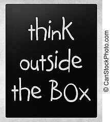 Think outside the box - concept