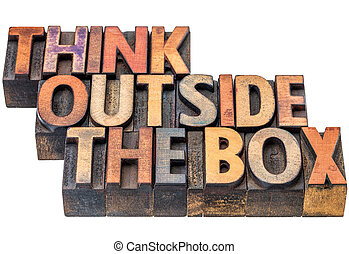 think outside the box concept - think outside the box -...