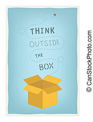 Think outside the box concept - Flat design modern vector...