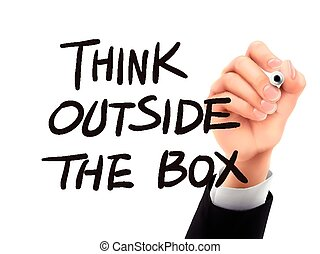 think outside the box written by 3d hand - think outside the...