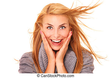 Think positive! - A picture of a young positive woman ...