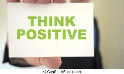Think positive mentor - Shot of Think positive mentor