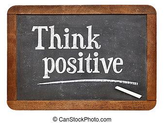 Think positive on blackboard