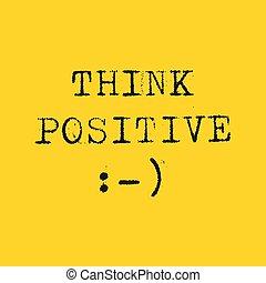 Think Positive vector illustration
