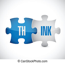 think puzzle illustration design