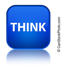 Think special blue square button