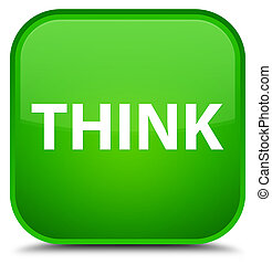 Think special green square button