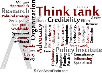 Think tank words cloud illustration