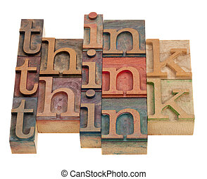 think word abstract