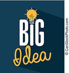 think,design - think design over blue background vector...