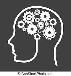 think,design - think design over black background vector...