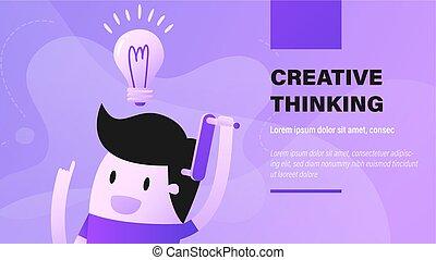 thinking., δημιουργικός