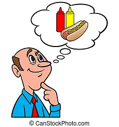 Thinking about a Company Cookout - A cartoon illustration of...