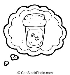 thinking about coffee cartoon