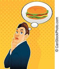 Thinking about hamburger