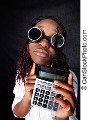 thinking afro-american accountant manager