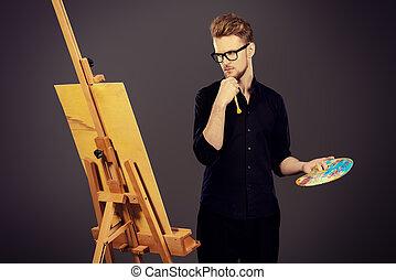 thinking artist