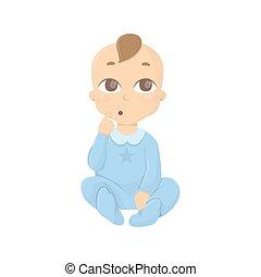 Thinking baby boy.