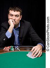 Thinking before bet in casino