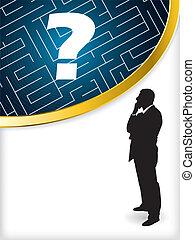 Thinking business man brochure