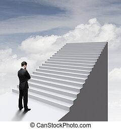 ladder in sky