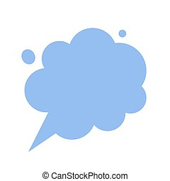 Thinking cloud dreaming chat t thoughts bubble message vector isolated comic flat cartoon icon, talking dialog speech balloon conversation, discussion comment blank empty copy space clipart