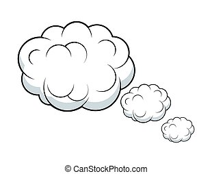 Thinking Clouds Vector