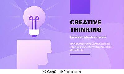thinking., creativo