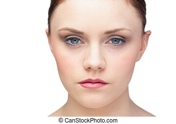 Thinking fresh brunette posing
