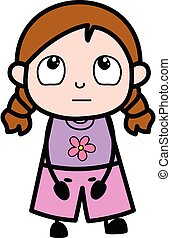 Thinking Girl Cartoon